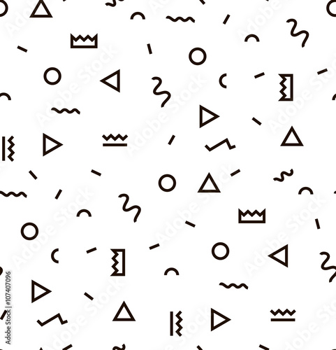 Geometric Vector pattern with black and white. Form a triangle, a ...
