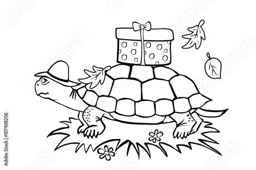 """""""schildkröte malvorlage"""" stock photo and royaltyfree"""
