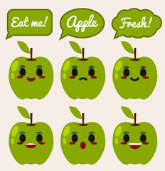 Green Apple character