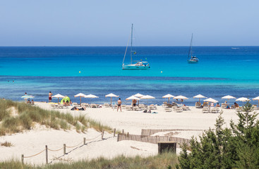 In Cala Saona beach, Formentera