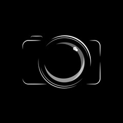 Camera icon black and white