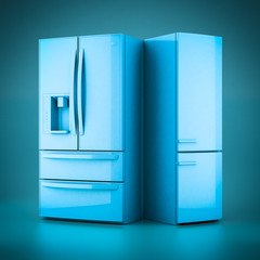 3D rendering beautiful refrigerator