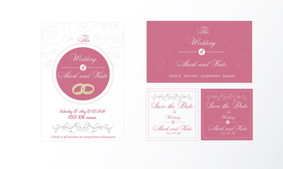 Свадебный набор в розовом