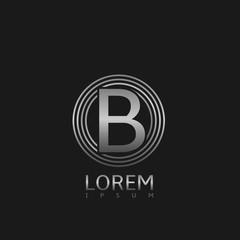 Silver B letter logo