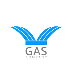 Gas logo sign