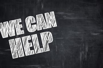 Chalkboard writing: we can help