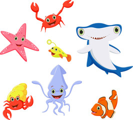 funny sea life cartoon collection