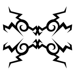 Tattoo. Stencil. Pattern. Design. Ornament.  Abstract black and white pattern for a different design.