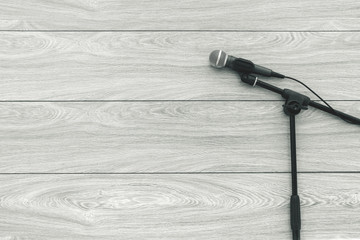 microphones on lyric background.