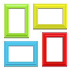 Colour classis frame set on the wall. Vector Illustration