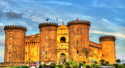 Tuinposter Napels Castel Nuovo in Naples