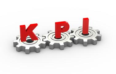 3d gears kpi concept