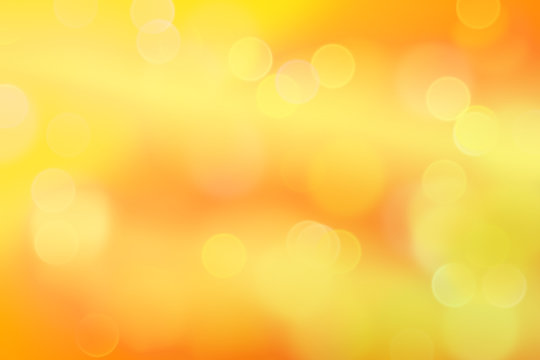 intense fresh bokeh effects in shades of yellow, orange and white