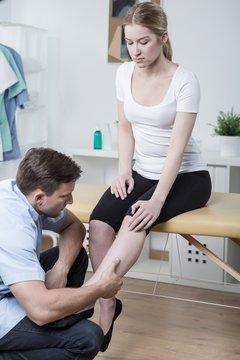 Patient with shin splints