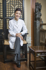 Portrait of female Chinese doctor