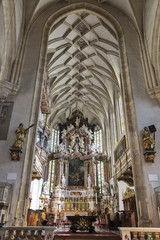 Interior of the Graz Cathedral, Austria.
