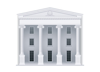 Courthouse or institution, department, ministry in a classical style with columns