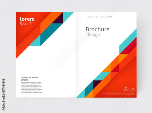 Brochure, Flyer, Annual Report Cover Template. A3 Size. Modern  Cover Template