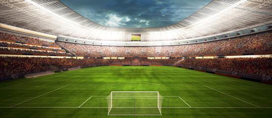 Wall Mural - panaram view inside soccer stadio - fussballstadion panorama vor Spielbeginn
