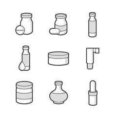 Medical Pharmacist, bottles Icons