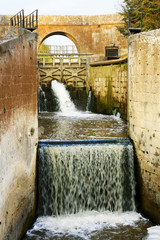 Canal of Castile ,Canal de Castilla, It was built to grain transport  and then it was reconverted  to be a huge irrigation system ; Palencia, Spain