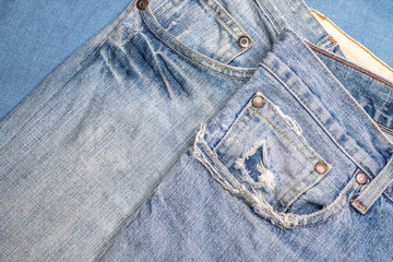 Blue jeans texture background, Old Jean fashion design