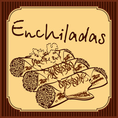 Enchiladas vector