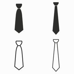 Necktie  vector icons.