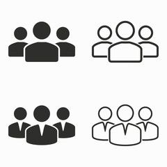 People  vector icons.