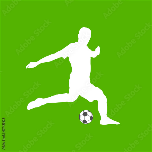 Fussballer Silhouette Stock Image And Royalty Free Vector