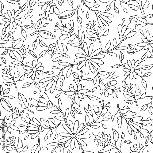 Flower background in black and white for coloring stock image and flower background in black and white for coloring mightylinksfo