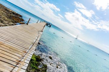 Pier in Dominicus beach, Dominican Republic