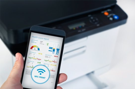 Wireless easy printing with Near Field Communication technology