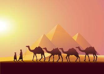 Kervan yolculuğu ve piramitler