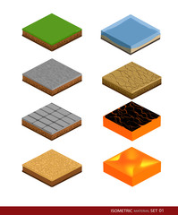 Isometric material for game. Background for game.Materials and textures for the game