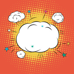 Cloud for Comic Book Bubble Text