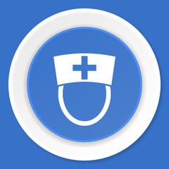 nurse blue flat design modern web icon