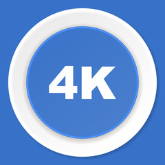 4k blue flat design modern web icon