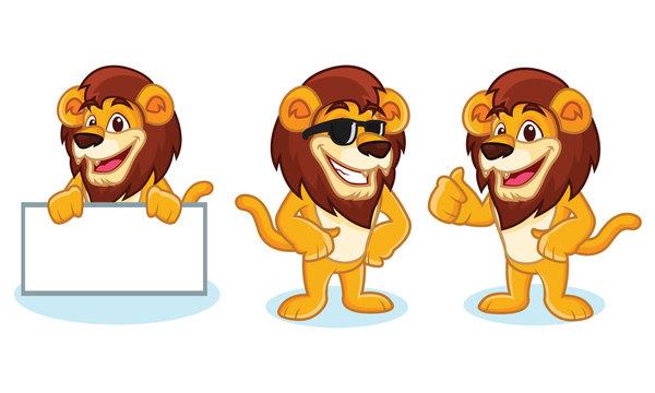Lion Mascot Vector pose