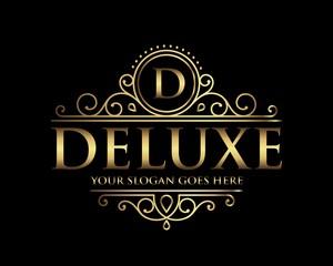 Deluxe Luxury Logo templat