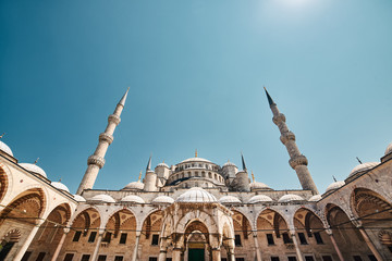 The Blue Mosque, Sultanahmet Camii, Istanbul, Turkey.