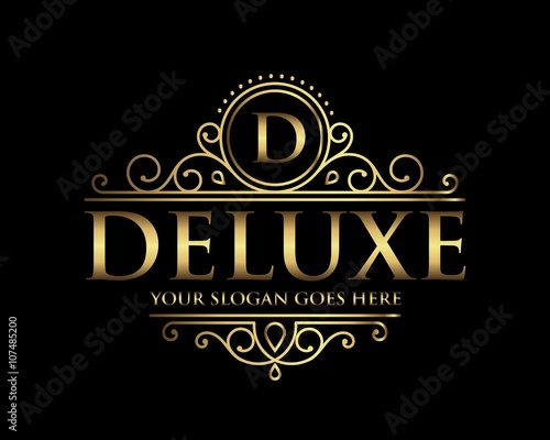 "Populaire Deluxe Luxury Logo templat"" Stock image and royalty-free vector  WR73"