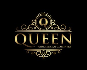 Queen Luxury Logo template