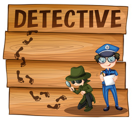 Detective and policeman working together