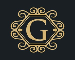 Letter G luxury template