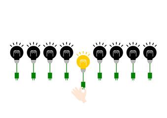 電球 イラスト エコ 節電 イメージ