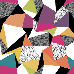 Geometric seamless pattern in retro style. Vintage background. C