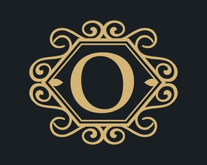 Letter O luxury template