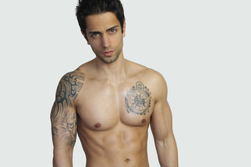 sexy young man posing shirtless
