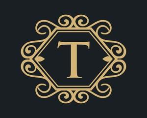 Letter T luxury tempate